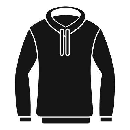 zipper hooded sweatshirt: Hoody icon. Simple illustration of hoody vector icon for web