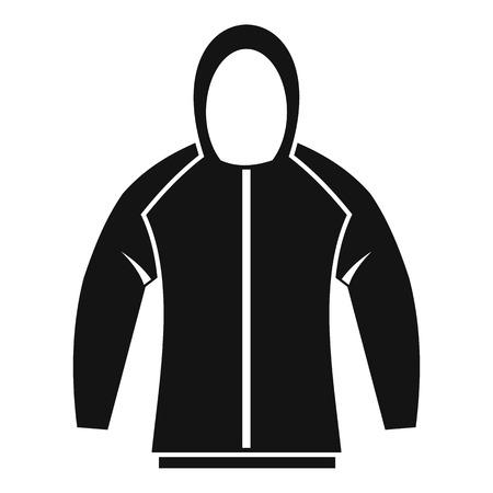 zip hoodie: Sweatshirt icon. Simple illustration of sweatshirt vector icon for web Illustration
