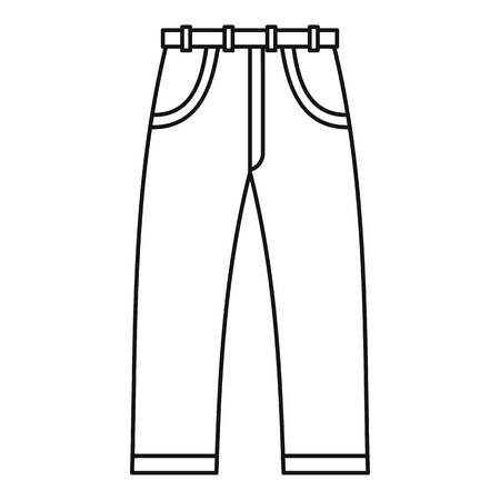 Jeans icon. Outline illustration of jeans vector icon for web