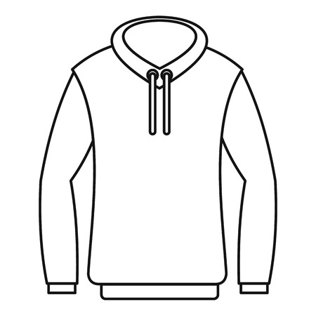 zip hoodie: Hoody icon. Outline illustration of hoody vector icon for web