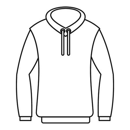 zipper hooded sweatshirt: Hoody icon. Outline illustration of hoody vector icon for web