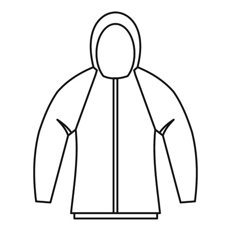 zipper hooded sweatshirt: Sweatshirt icon. Outline illustration of sweatshirt vector icon for web