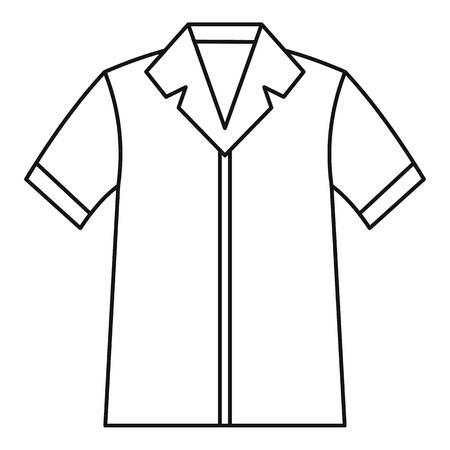 pocket size: Shirt polo icon. Outline illustration of shirt polo vector icon for web Illustration