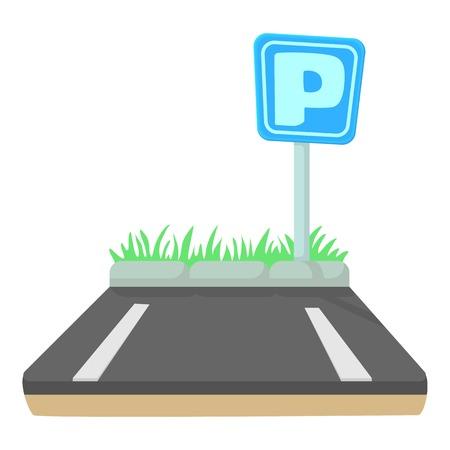 Parkeerpictogram. Cartoon illustratie van parkeer vector pictogram voor web