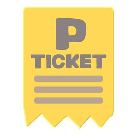 parking ticket: Parking ticket icon. Cartoon illustration of parking ticket vector icon for web Illustration