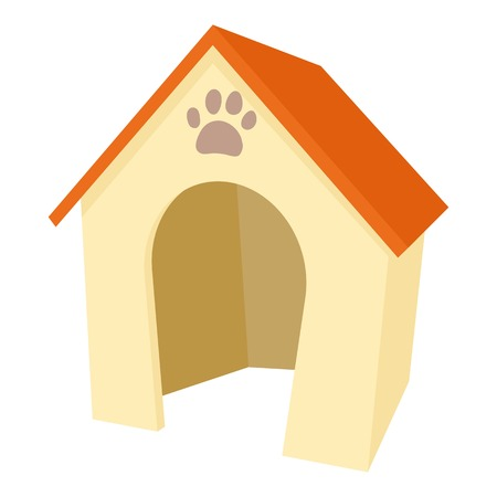 Dog house icon. Cartoon illustration of dog house vector icon for web Illustration