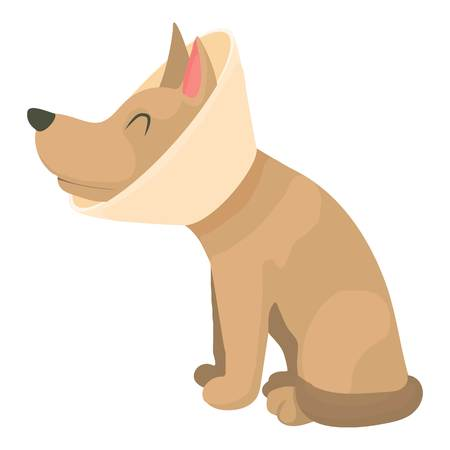 Sick dog icon. Cartoon illustration of sick dog vector icon for web