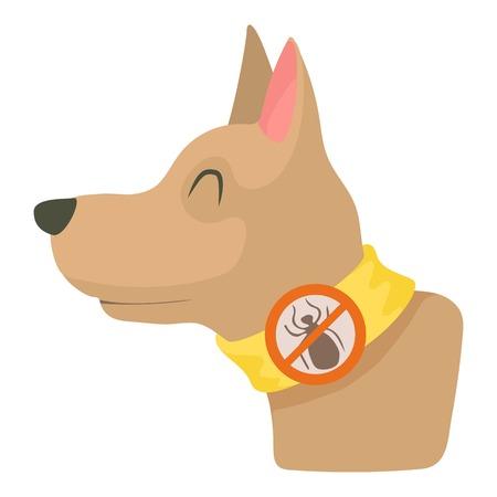 Dog collar icon. Cartoon illustration of dog collar vector icon for web