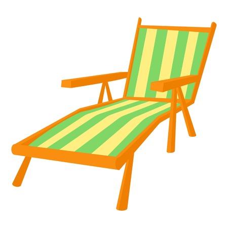 recline: Recliner icon. Cartoon illustration of recliner vector icon for web Illustration
