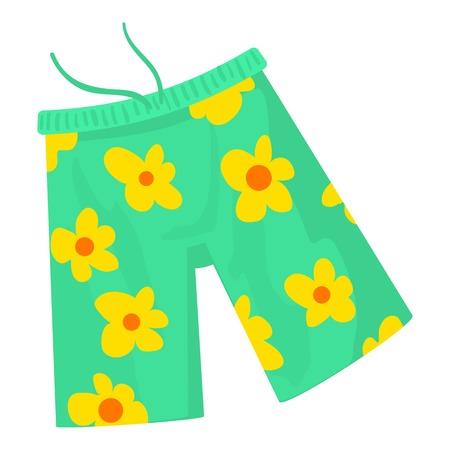 Beach shorts icon. Cartoon illustration of beach shorts vector icon for web