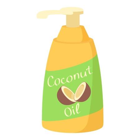 Coconut oil icon. Cartoon illustration of coconut oil vector icon for web
