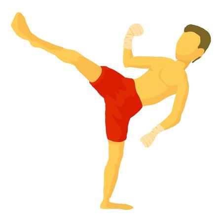Karate icon. Cartoon illustration of karate vector icon for web Illustration