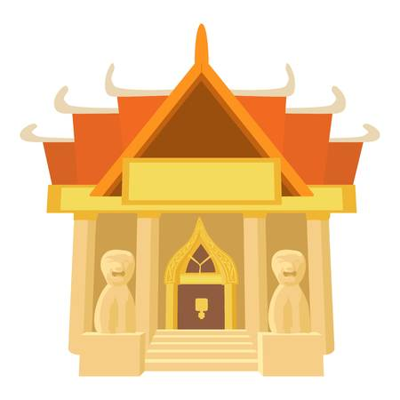 agra: Old temple icon. Cartoon illustration of old temple vector icon for web