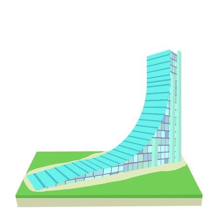 springboard: Springboard icon. Cartoon illustration of springboard vector icon for web