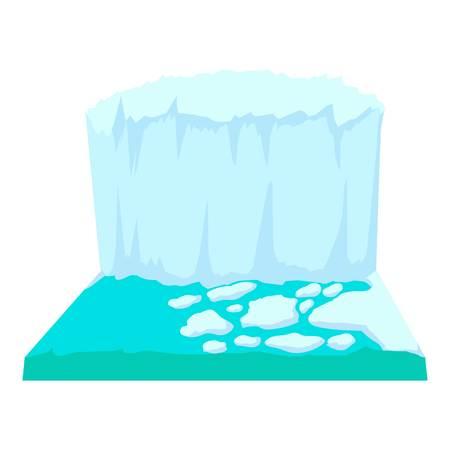 Iceberg icon. Cartoon illustration of iceberg vector icon for web