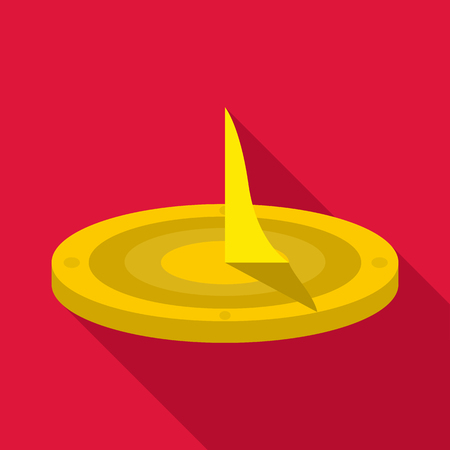Sundial icon. Flat illustration of sundial vector icon for web