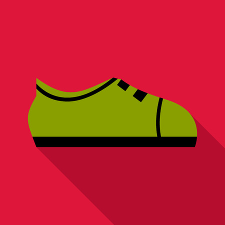 keds: Green boot icon. Flat illustration of green boot vector icon for web
