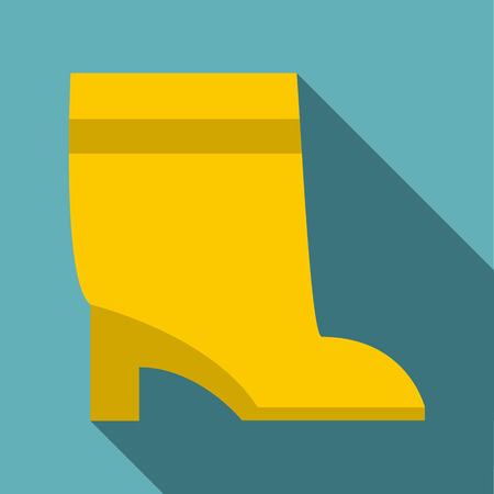 keds: High boot icon. Flat illustration of high boot vector icon for web Illustration