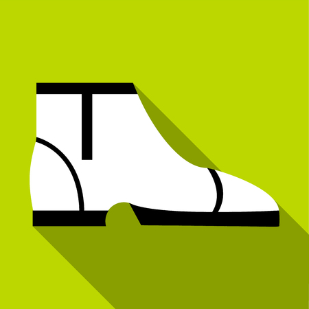 keds: Man boot icon. Flat illustration of man boot vector icon for web