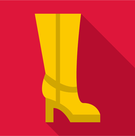 keds: Woman boot, icon. Flat illustration of woman boot, vector icon for web