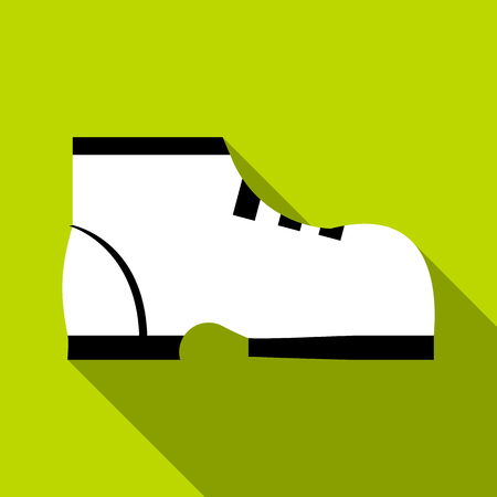 keds: One boot icon. Flat illustration of one boot vector icon for web Illustration