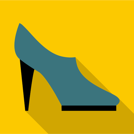 Woman shoe icon. Flat illustration of woman shoe vector icon for web