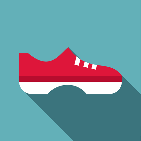 keds: Red boot icon. Flat illustration of red boot vector icon for web
