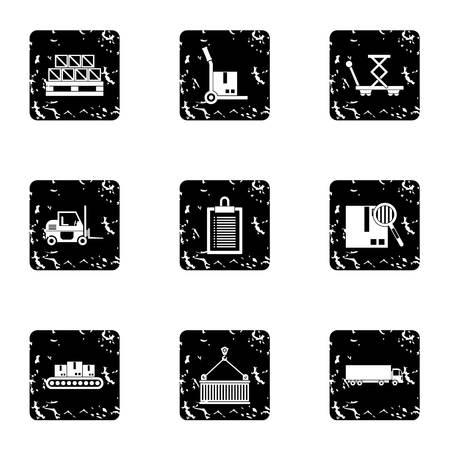 アイコン セットを格納します。グランジ web 9 店ベクトルのアイコンのイラスト