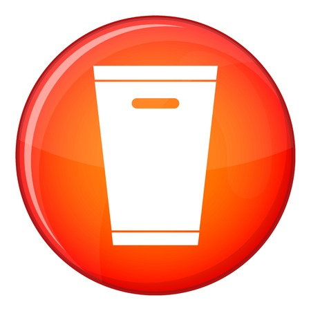 Trash can icon in red circle isolated on white background vector illustration Illustration