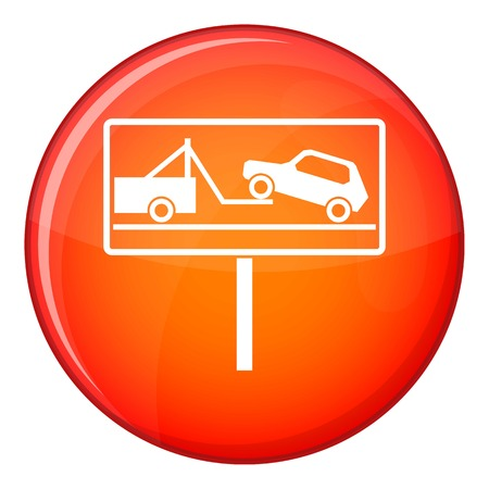 No parking sign icon in red circle isolated on white background vector illustration Illustration