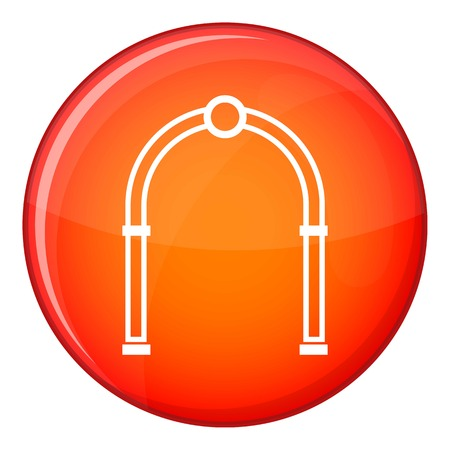 Arch icon in red circle isolated on white background vector illustration
