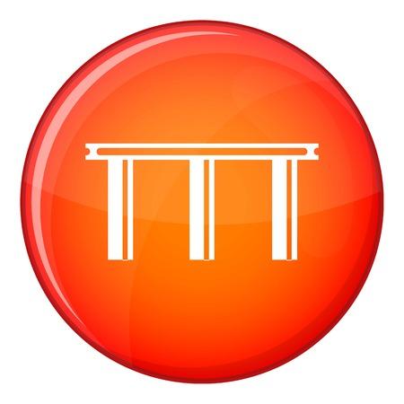 balustrade: Bridge icon in red circle isolated on white background vector illustration Illustration