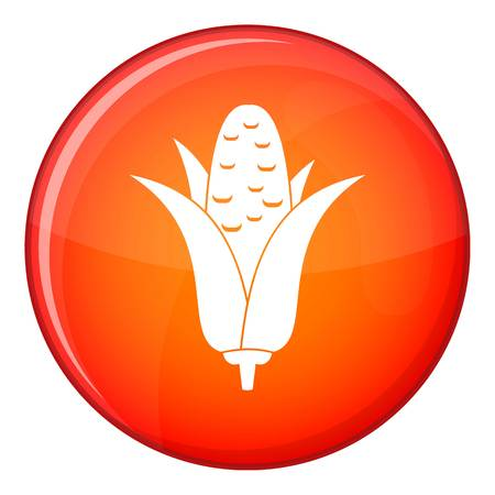 Corncob icon in red circle isolated on white background vector illustration