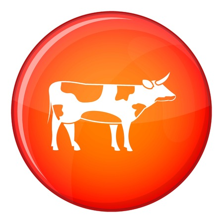 Switzerland cow icon in red circle isolated on white background vector illustration