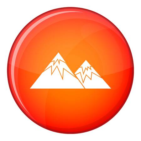 Swiss alps icon in red circle isolated on white background vector illustration
