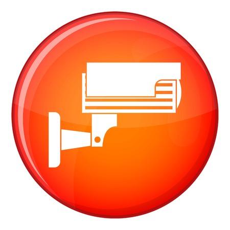 Mano con icona di biglietto di parcheggio in cerchio rosso isolato su sfondo bianco illustrazione vettoriale
