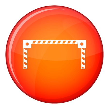 Barrier icon in red circle isolated on white background vector illustration