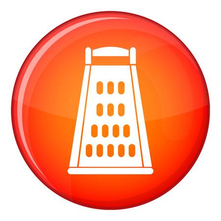 Kitchen grater icon in red circle isolated on white background vector illustration