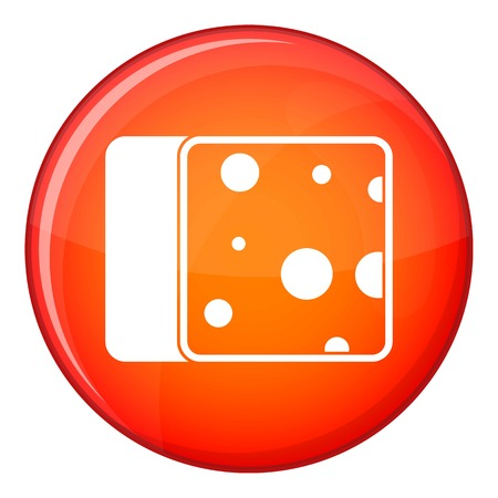 cheez: Cheese icon in red circle isolated on white background vector illustration Illustration