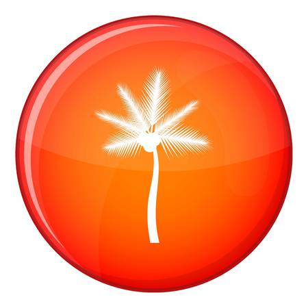 Palm butia capitata icon in red circle isolated on white background vector illustration
