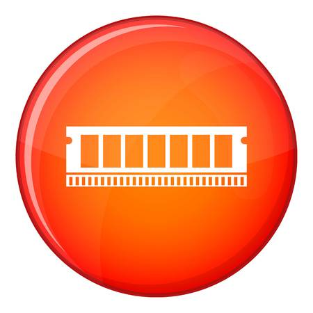 ddr: DVD RAM module for the personal computer icon in red circle isolated on white background vector illustration Illustration