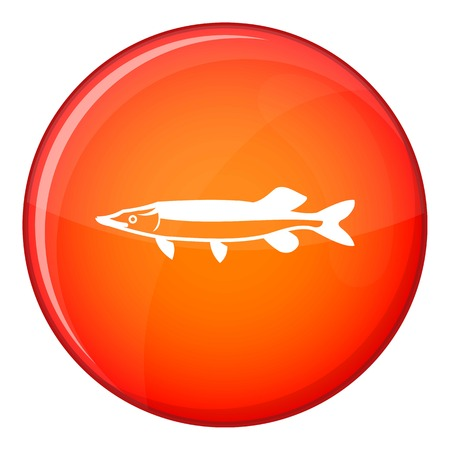 saury: Saury icon in red circle isolated on white background vector illustration Illustration