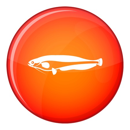 atlantic: Atlantic mackerel, Scomber scombrus icon in red circle isolated on white background vector illustration