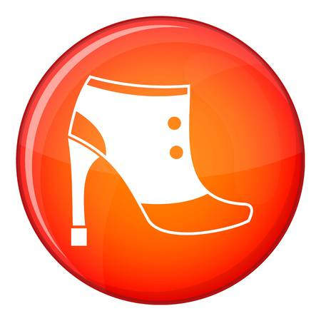 Women boots icon in red circle isolated on white background vector illustration