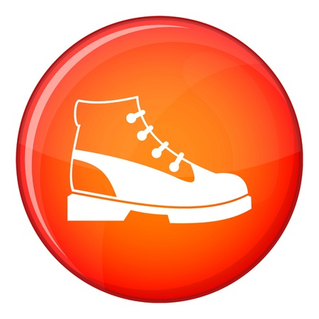 Men oxfords icon in red circle isolated on white background vector illustration