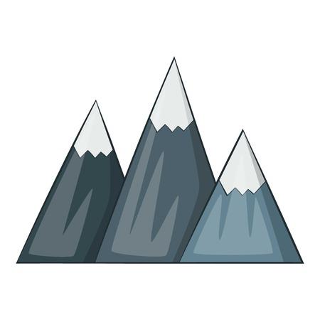 rockies: Mountain icon. Cartoon illustration of mountain vector icon for web