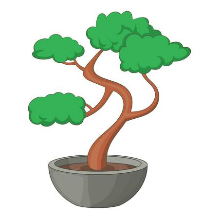 Bonsai tree icon. Cartoon illustration of bonsai tree vector icon for web Illustration