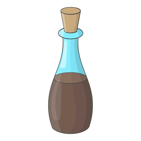 chinese food container: Soy sauce bottle icon. Cartoon illustration of soy sauce bottle vector icon for web Illustration