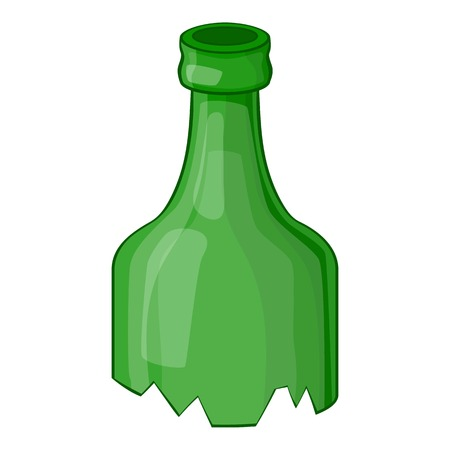 Broken bottle icon. Cartoon illustration of broken bottle vector icon for web Illustration