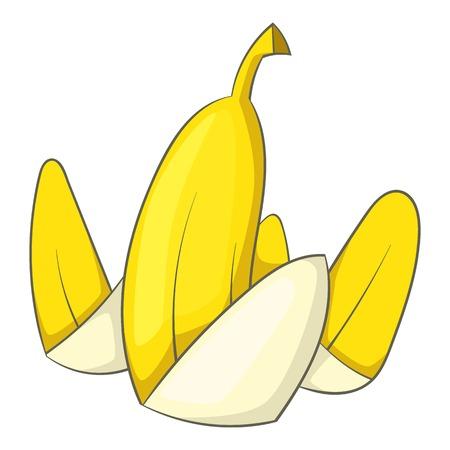 Banana peel icon. Cartoon illustration of banana peel vector icon for web Illustration